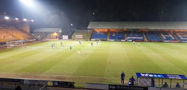 Pools played Halifax Town at The Shay on Tuesday evening.