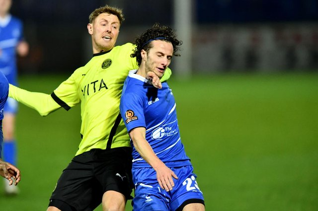 Jamie Sterry in action for Hartlepool United (photo: Frank Reid).