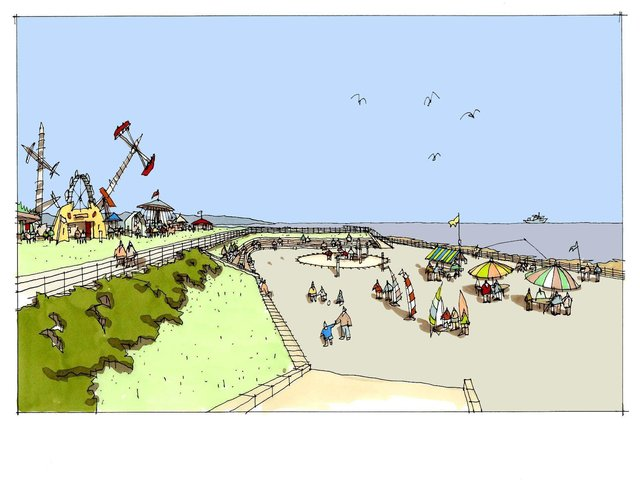 An artist's impression of the restored amphitheatre.
