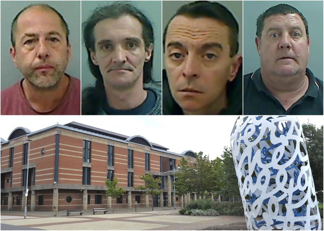 Just some of the Hartlepool criminals to have been locked up recently at Teesside Crown Court.