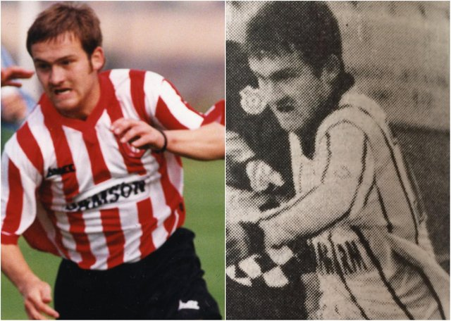 Killer Paul Conlon, left, appearing for Sunderland's youth team after earlier playing for Hartlepool United's first team.