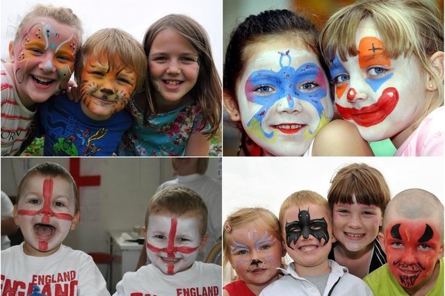 Is there a face painting scene that you remember?