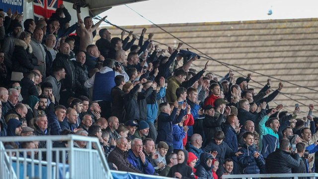 Hartlepool United fans will be back at the end of the month. The North West corner (pictured) is currently unable to seat supporters (photo: HUFC)
