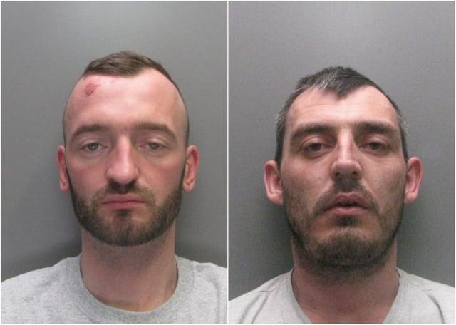 Bungling Hartlepool burglars Leon Robinson, left, and Mark Carroll.