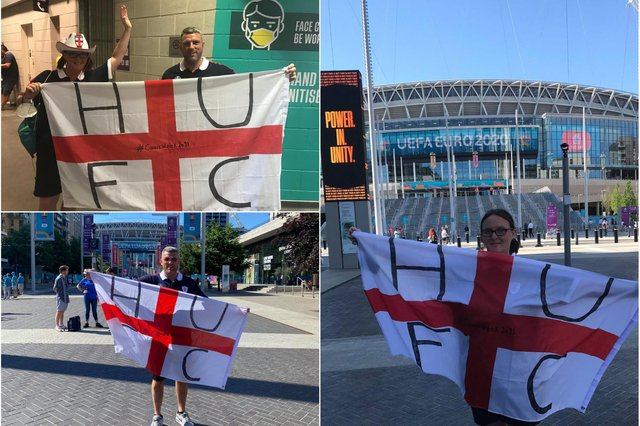 Christine and Gavin on a memorable weekend at Wembley.
