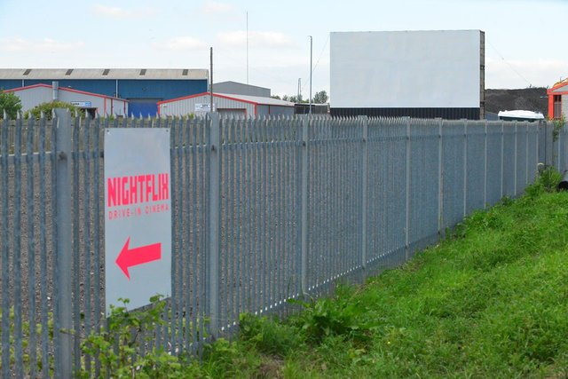 The new Nightflix drive-in cinema at Seaton Carew. Picture by FRANK REID.