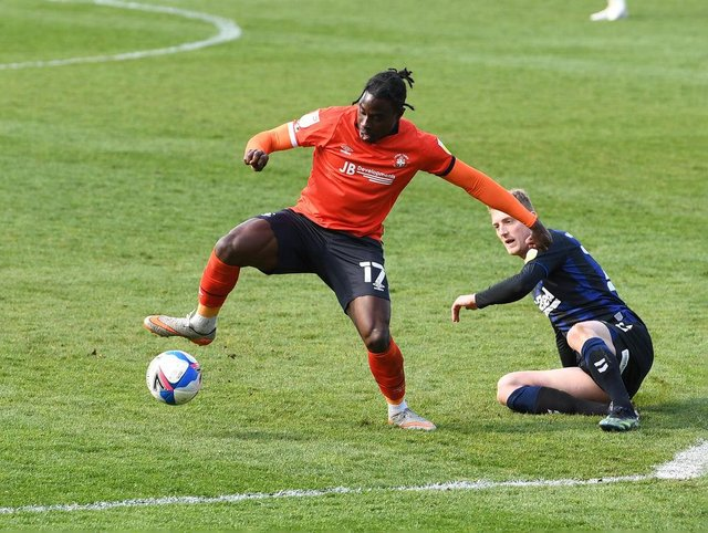 Pelly Ruddock playing for Luton.