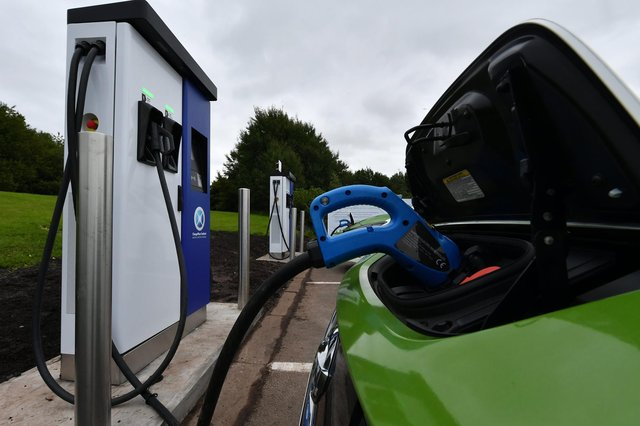 An electric charging point, as transport chiefs plan a strategy for supporting growing use of electric vehicles in the North East.