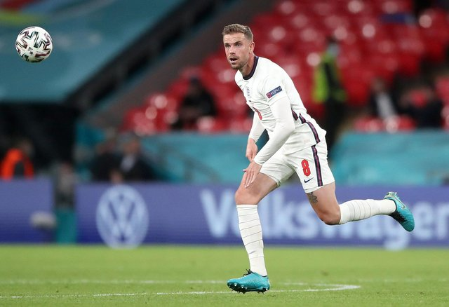 England's Jordan Henderson during the UEFA Euro 2020 Group D match at Wembley Stadium, London on Tuesday June 22, 2021./ Photo: Nick Potts/PA Wire.