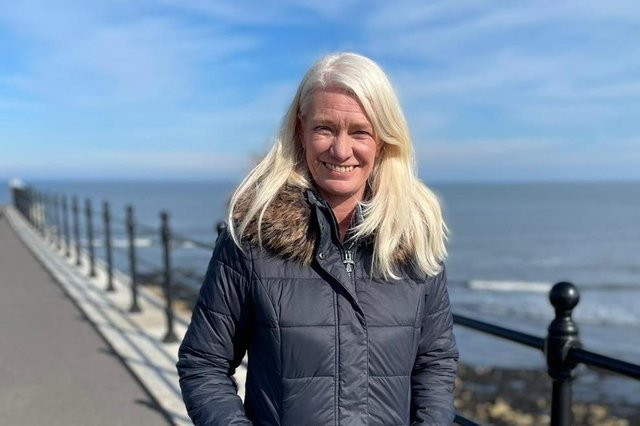 Conservative co-chairman Amanda Milling on the Headland ahead of the Hartlepool by-election following the shock resignation of MP Mike Hill