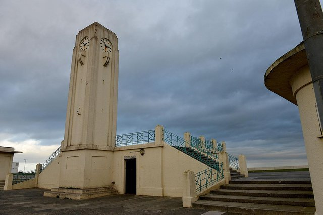 The Clock Tower, at the Bus Station. Seaton Carew. FRANK REID