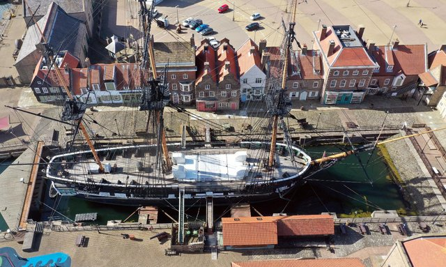 HMS Trincomalee is to be repainted this summer.