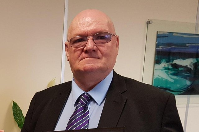 Edwin Jeffries, President of Hartlepool Trades Union Council.