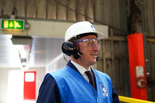 Dr Paul Williams, Labour Party candidate for Hartlepool visits Liberty Steel. Picture: Ian Forsyth/Getty Images.