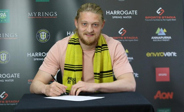 Hartlepool United play-off hero Luke Armstrong joins League Two rivals Harrogate Town. (Photo credit: Harrogate Town)