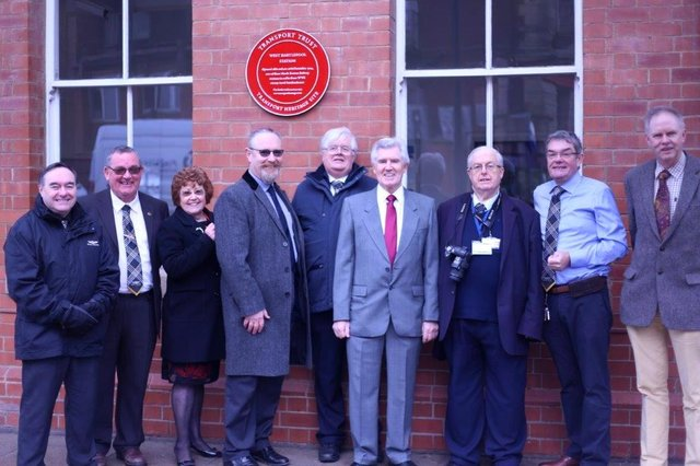 Members of the Friends of Hartlepool Station group during the unveiling of two Red Wheels at the station in 2019.