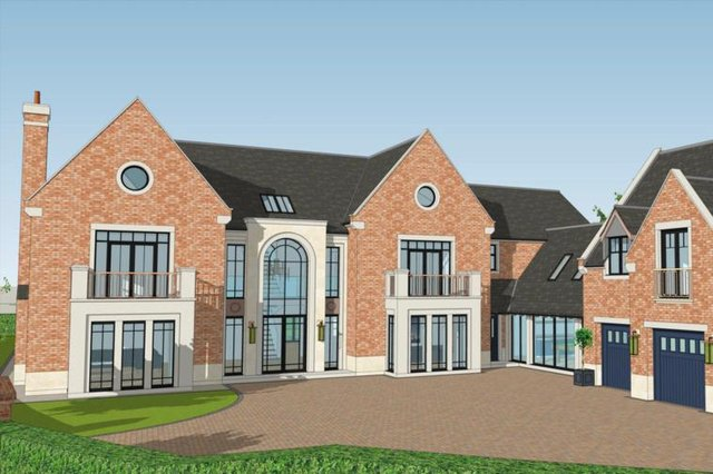 An artist' impression of how one of the homes would look.