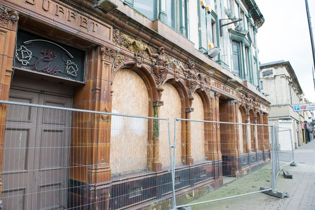 The former Shades bar, in Church Street, Hartlepool, which has been closed for some time.