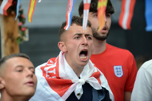 England fans might think history is against them as their team takes on Germany at the Euros. Picture by Stu Norton.