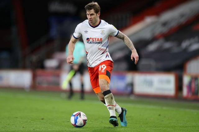 Luton striker James Collins.