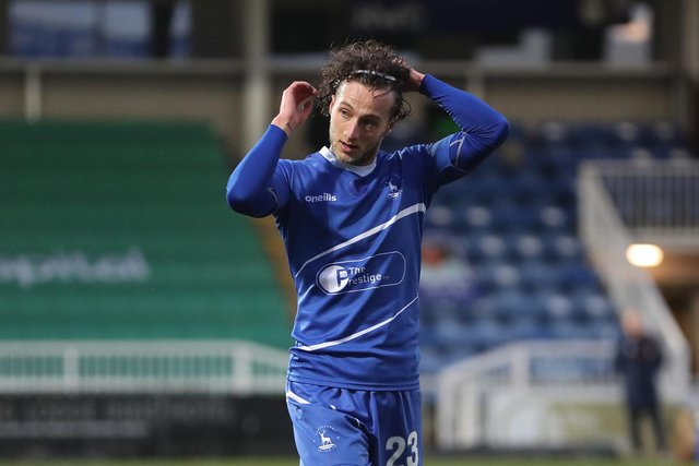 Jamie Sterry of Hartlepool United (Credit: Mark Fletcher | MI News)