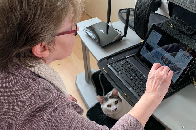 A Get Connected subscriber tests out their new broadband.