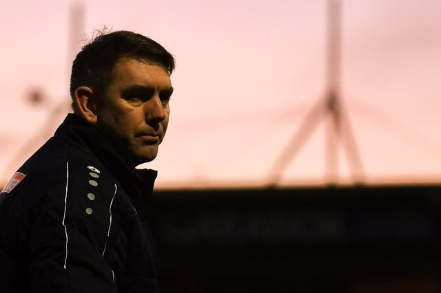 Hartlepool United manager Dave Challinor (Credit: Paul Paxford   MI News & Sport)