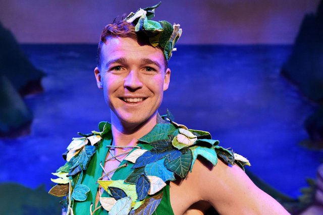 Ben-Ryan Davies who played Peter Pan at the Forum Theatre and is back for this year's production of Sleeping Beauty. Picture by FRANK REID
