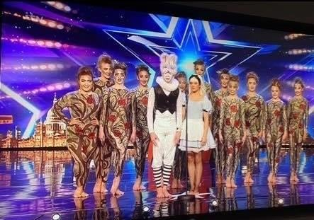 Some of the troupe from VA Kidz before their show-stopping performance on Britain's Got Talent.