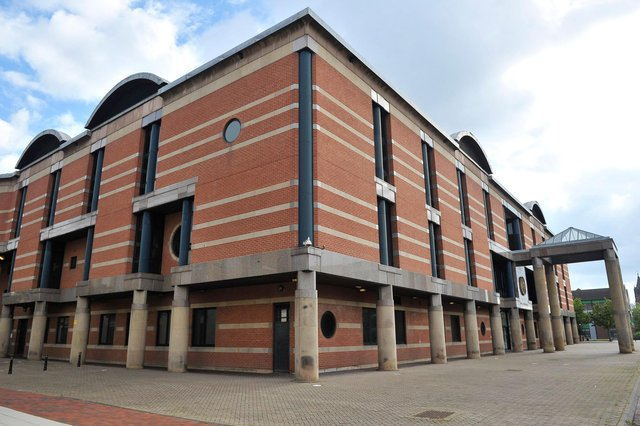 Leon Adams was jailed for 15 months at Teesside Crown Court in Middlesbrough.