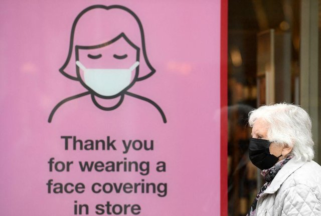 Readers have been sharing their views on the use of face coverings after so-called 'Freedom Day' on July 19. Picture: Oli Scarff /AFP via Getty Images.