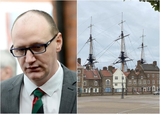 """Councillor Shane Moore, the leader of Hartlepool Borough Council, believes the securing a display of historic swords at the National Museum for the Royal Navy, right, would be """"a huge win for the town""""."""