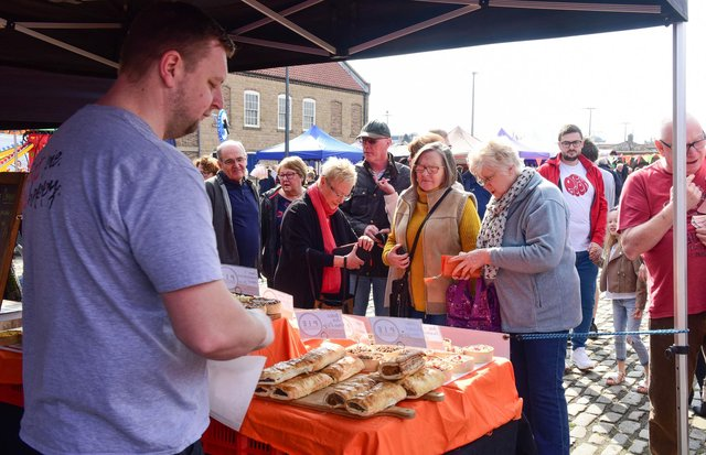A flashback to the opening of Hartlepool's maritime market in 2019.