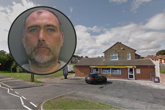Martin Locke has been jailed for three years after trying to rob Crosslands Stores in Horden. Photos copright Google/Durham Police.