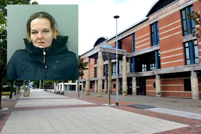 Tammy Wilmot (inset) was jailed for 30 months at Teesside Crown Court for burglary.