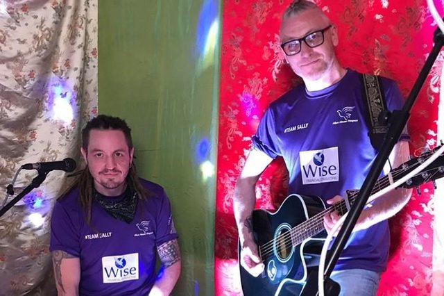 Hartlepool duo Pek and Wanley are longtime supporters of #TeamSally.