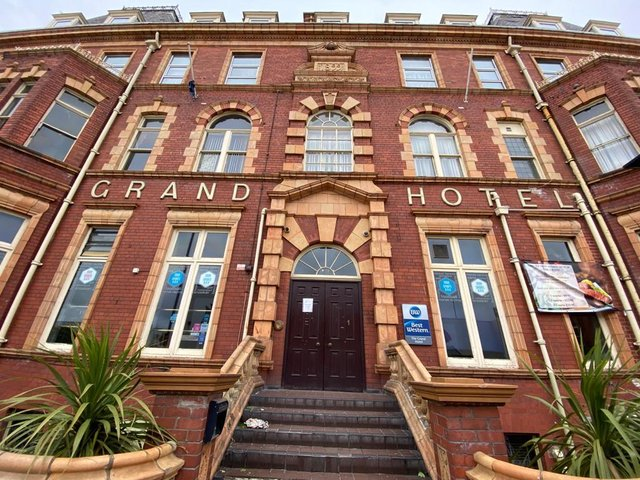 The Grand Hotel in Hartlepool.