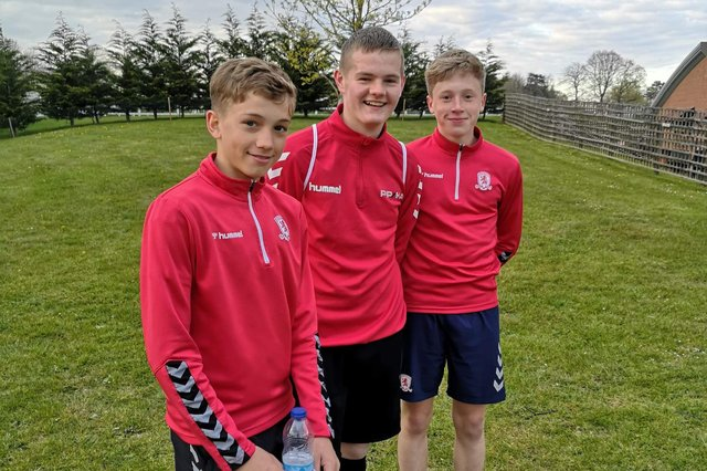 Frankie Coulson, Alex Griffin and Ollie Duthie on district duty.