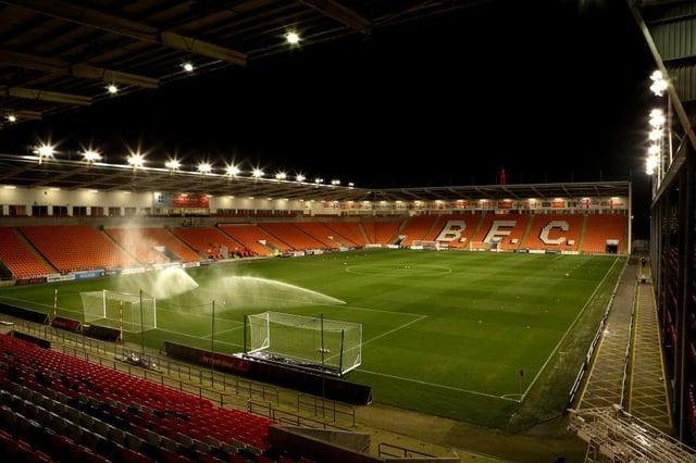 Blackpool's Bloomfield Road Stadium.