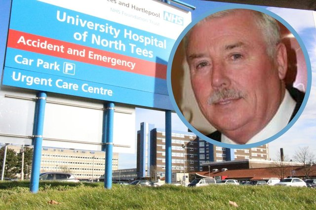 Colin Sutheran, 60, died of Covid after being cared for at the University Hospital of North Tees in Stockton.