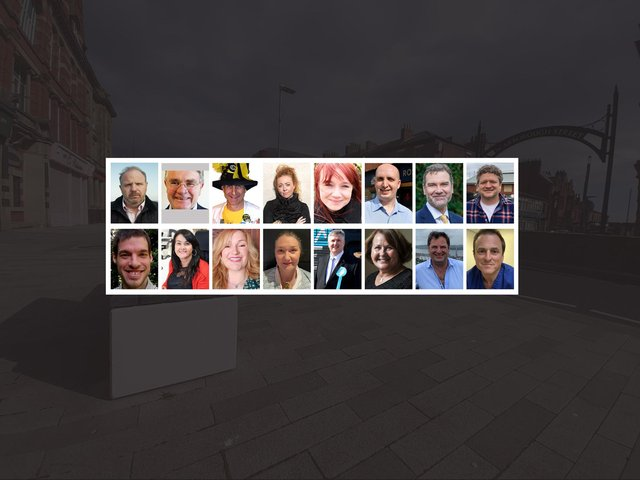 The 16 candidates currently standing in the Hartlepool by-election.