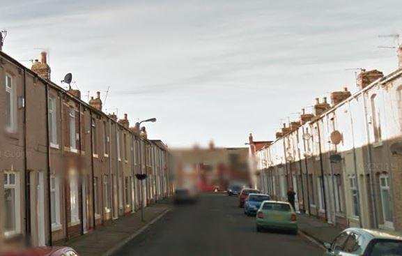The incident took place in Hartlepool's Stephen Street.