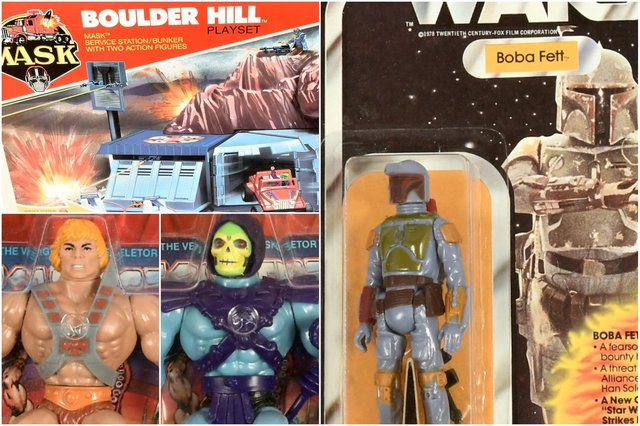 Toys from MASK, Star Wars, and Masters of the Universe will be sold in the auction.