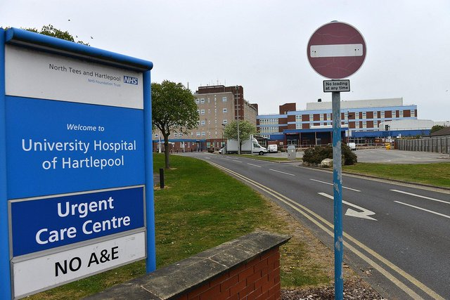 The University Hospital of Hartlepool, part of North Tees and Hartlepool NHS Trust.