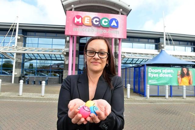 Hartlepool Mecca Bingo manager Michelle Doherty.