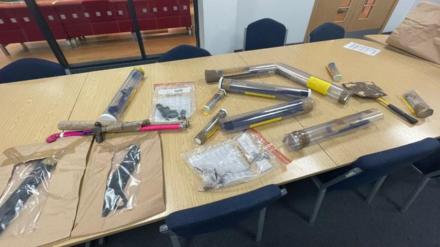 Some of the weapons and drugs recovered as part of Operation Endeavour.