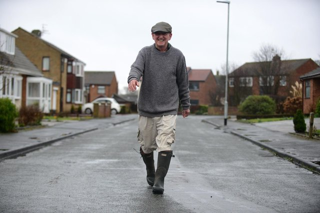 Mitch Wilson, 69, who walked over a million steps in just a few weeks to raise funds for Motor Neurone Disease.