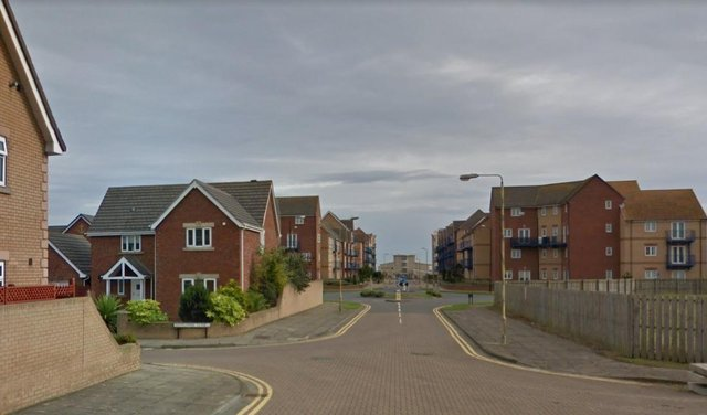 The incident happened on Fleet Avenue in Hartlepool. Image copyright Google.