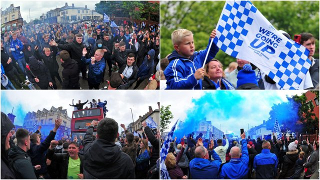 Hartlepool United promotion parade pictures from the streets (photo: Bernadette Malcolmson)