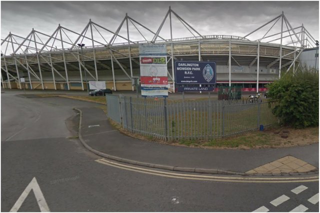 The Darlington Arena Vaccination Centre on Neasham Road. Image by Google Maps.